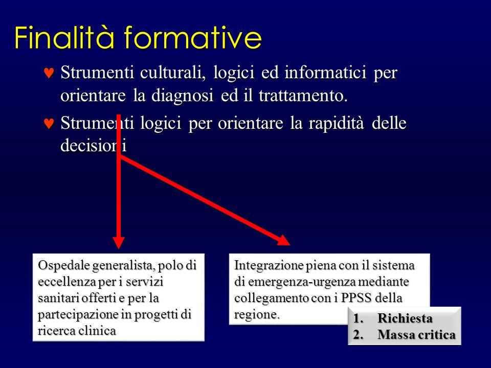 Finalità formative Strumenti culturali, logici ed informatici per orientare la diagnosi ed il trattamento.