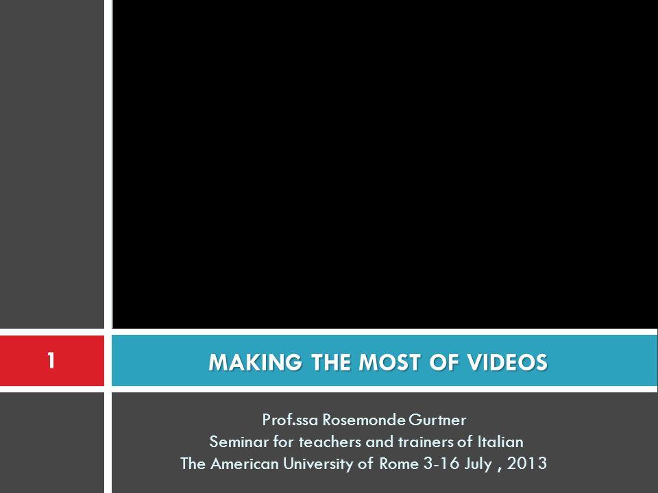 2.Usare internet come risorsa YTD Video Downloader tutorial 22 Prof.ssa Rosemonde Gurtner - Seminar New Technologies in Italian teaching 2013 – AUR slide 22