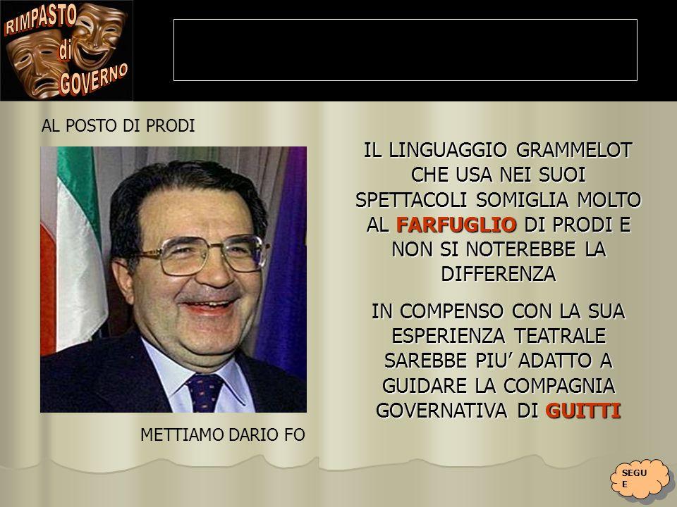 UN SODAGGIO SU UN CAMPIONE RAPPRESENTATIVO DI CITTADINI ITALIANI SUL TEMA: CHI VORRESTI COME MINISTRO IN SOSTITUZIONE DI QUELLO IN CARICA.