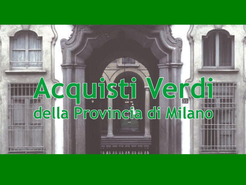 Acquisti Pubblici Verdi della Provincia di Milano A cura di