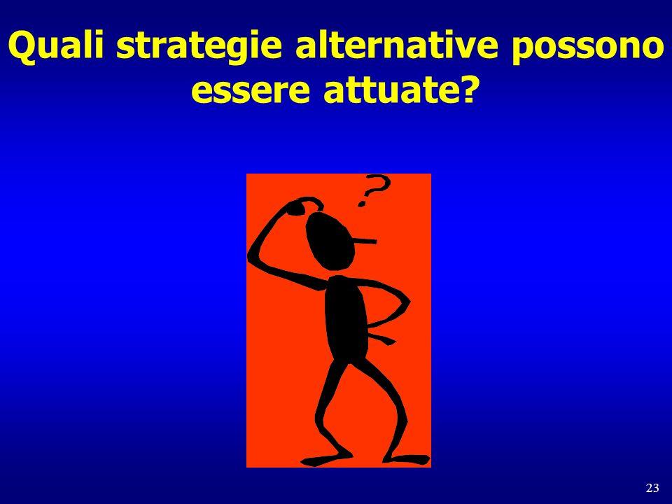 23 Quali strategie alternative possono essere attuate?