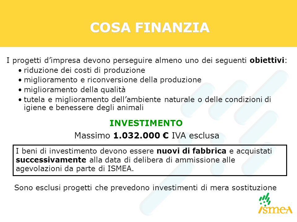 COSA FINANZIA I progetti dimpresa devono perseguire almeno uno dei seguenti obiettivi: riduzione dei costi di produzione miglioramento e riconversione