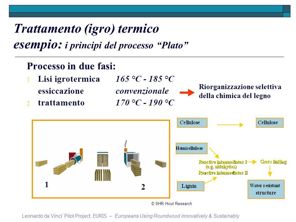 Processo in due fasi: 1 Lisi igrotermica165 °C - 185 °C essiccazioneconvenzionale 2 trattamento170 °C - 190 °C 1 2 Trattamento (igro) termico esempio: