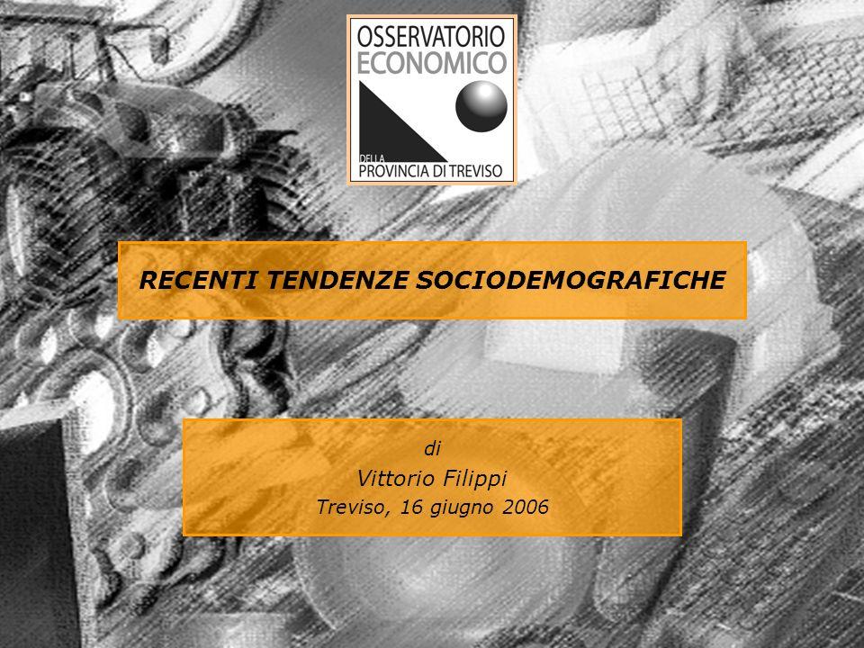 RECENTI TENDENZE SOCIODEMOGRAFICHE di Vittorio Filippi Treviso, 16 giugno 2006