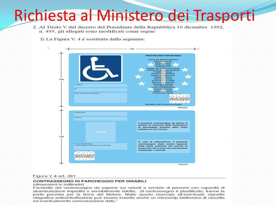 Richiesta al Ministero dei Trasporti
