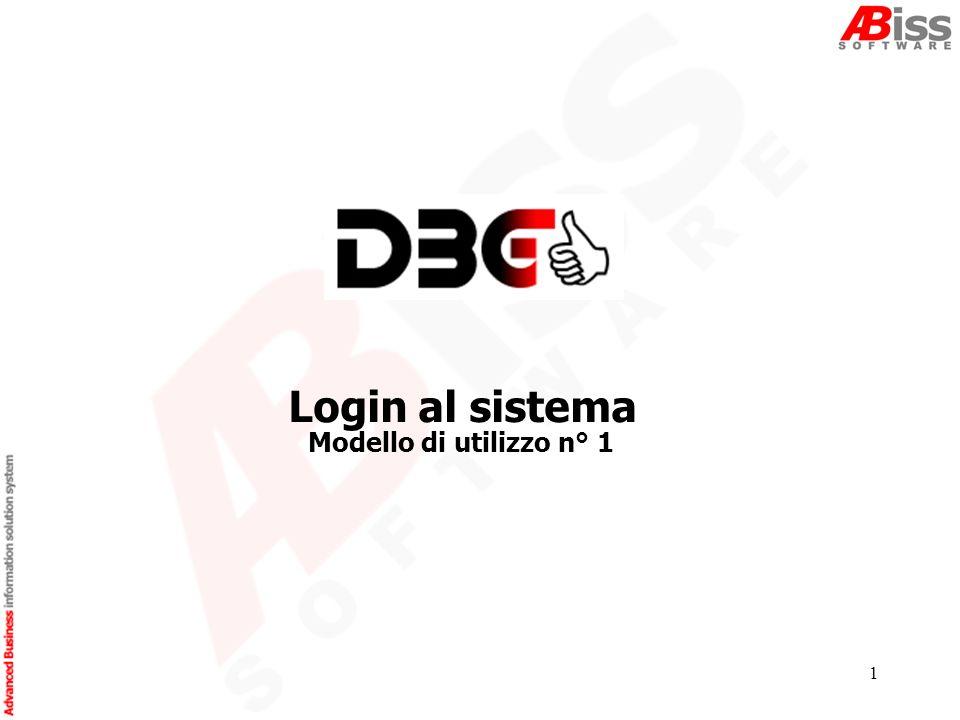 1 Modello di utilizzo n° 1 Login al sistema