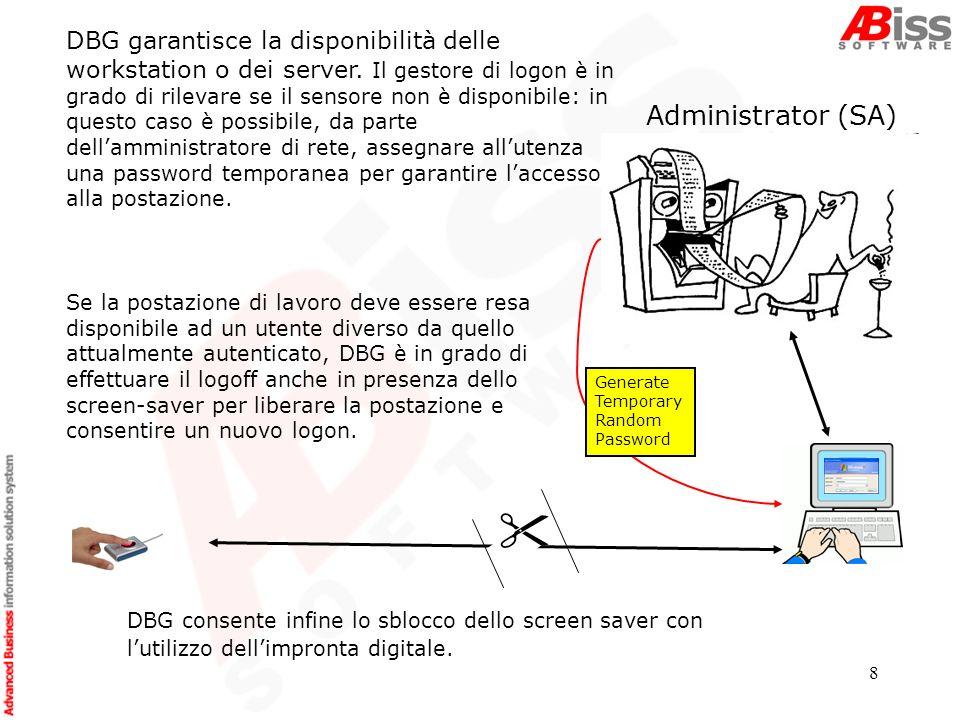 8 DBG garantisce la disponibilità delle workstation o dei server.