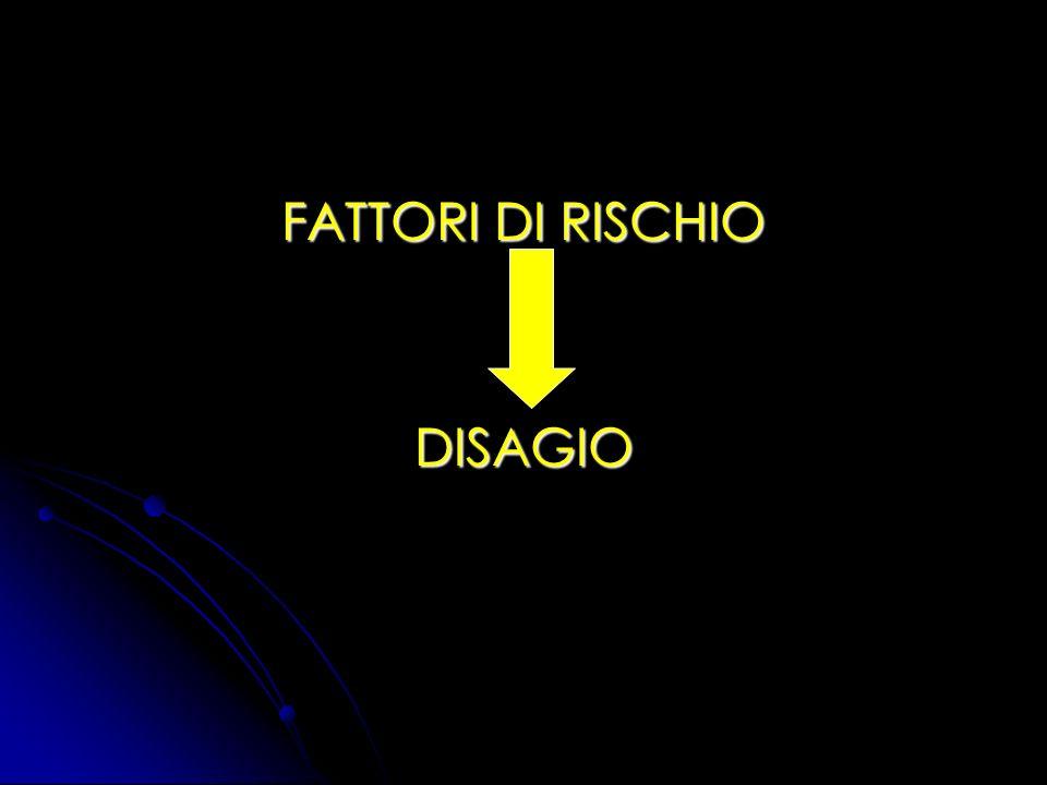 FATTORI DI RISCHIO DISAGIO