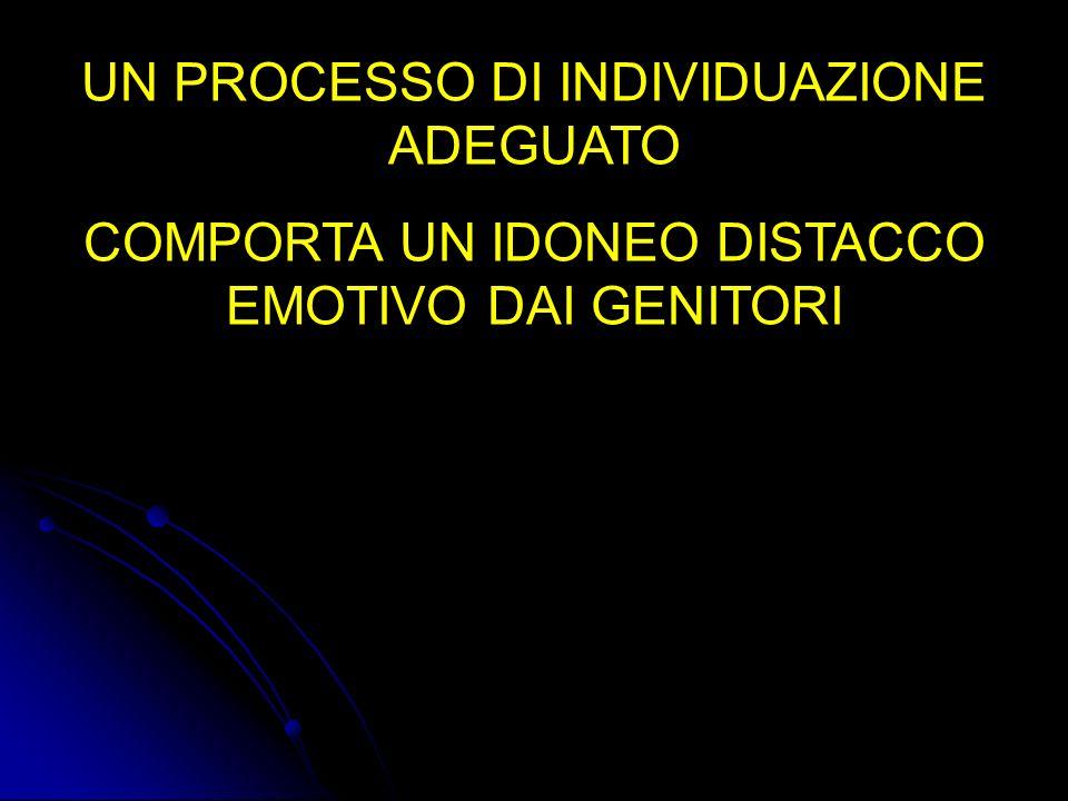 UN PROCESSO DI INDIVIDUAZIONE ADEGUATO COMPORTA UN IDONEO DISTACCO EMOTIVO DAI GENITORI