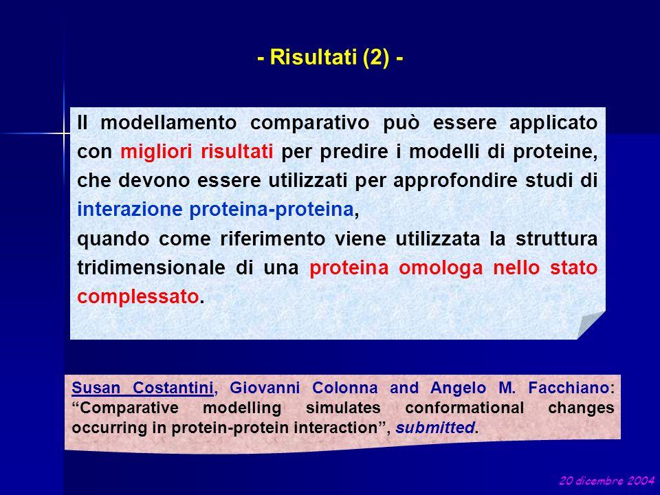 Il modellamento comparativo può essere applicato con migliori risultati per predire i modelli di proteine, che devono essere utilizzati per approfondi