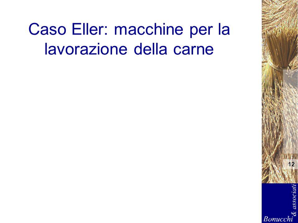 12 Caso Eller: macchine per la lavorazione della carne