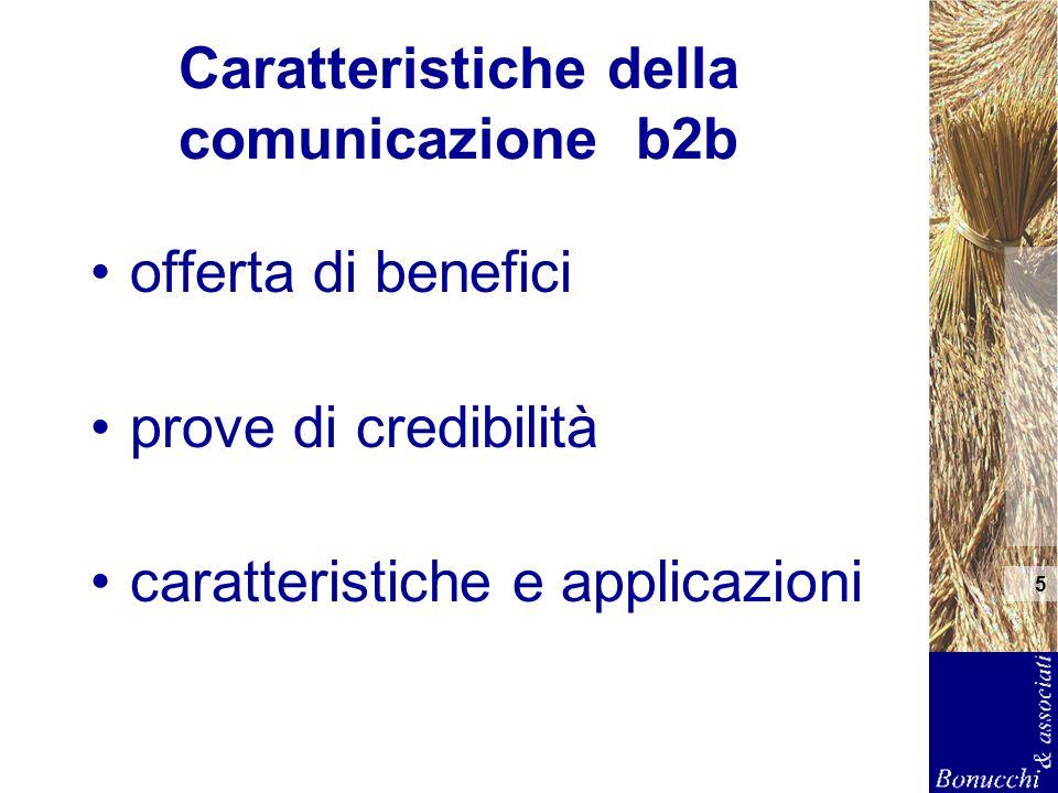 Note di comunicazione business to business A cura di Bonucchi & Associati srl Questo documento è di supporto a una presentazione verbale.