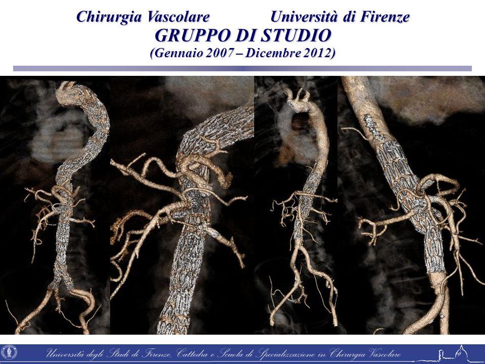 Università degli Studi di Firenze, Cattedra e Scuola di Specializzazione in Chirurgia Vascolare 43 paz.