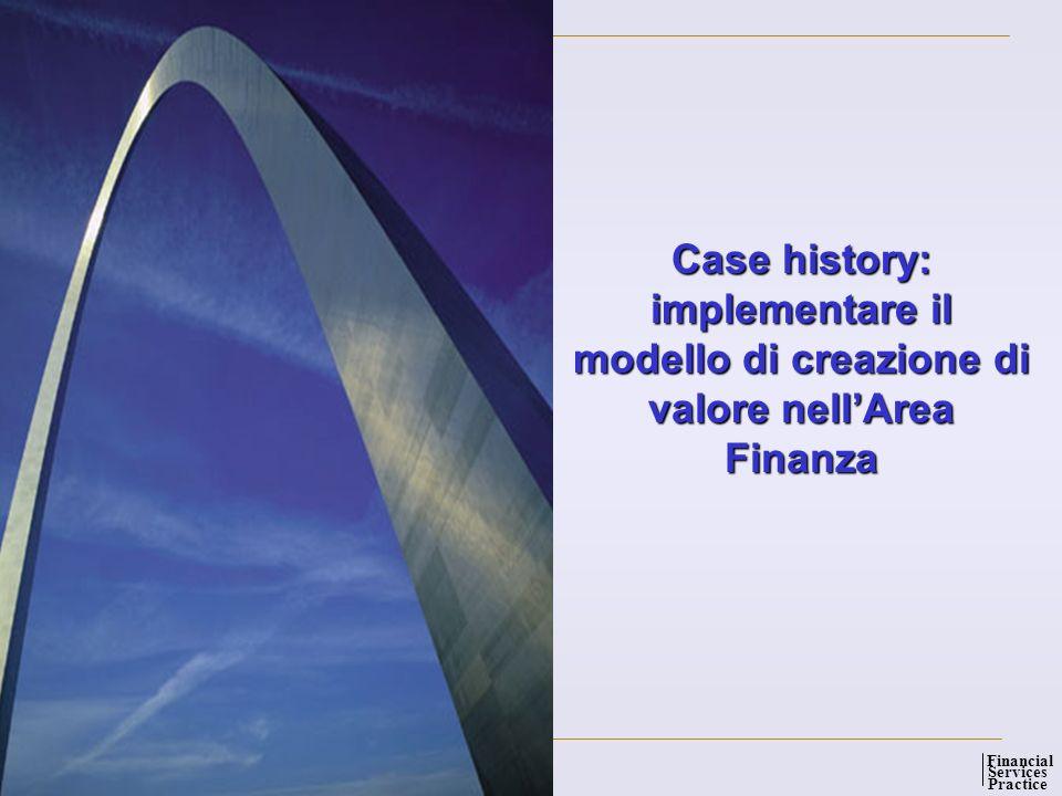 Global Management Solutions Services Practice Financial 11 Case history: implementare il modello di creazione di valore nellArea Finanza