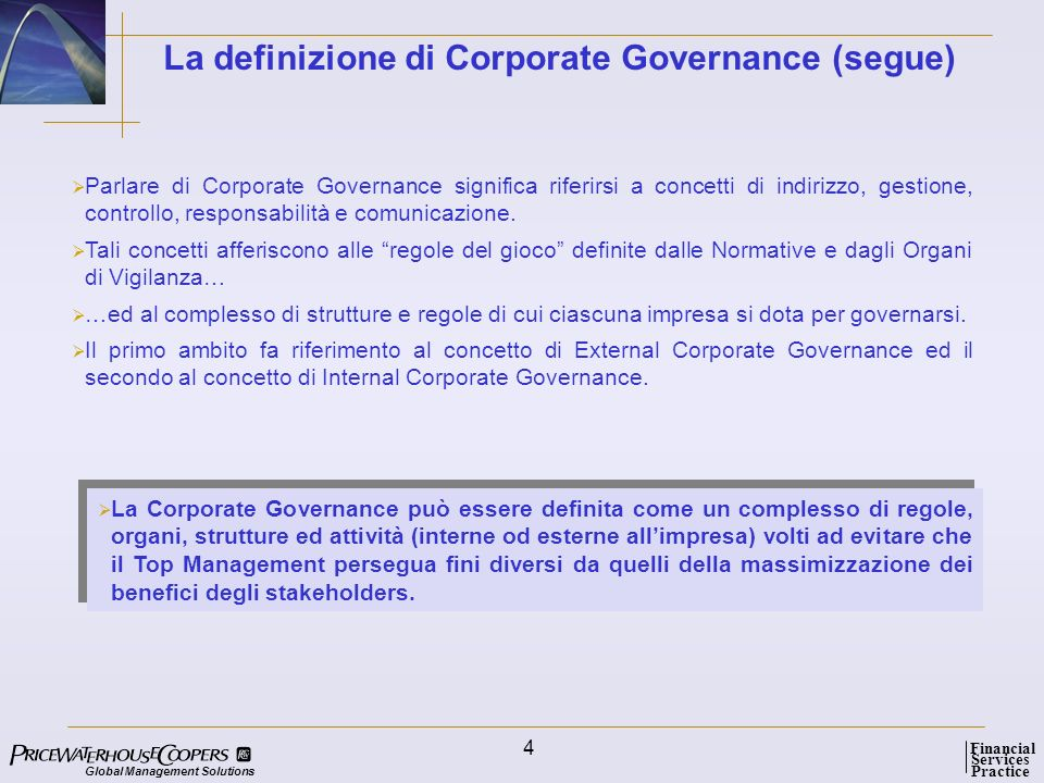 Global Management Solutions Services Practice Financial 15 La Shareholder Value Analysis e il suo reporting...