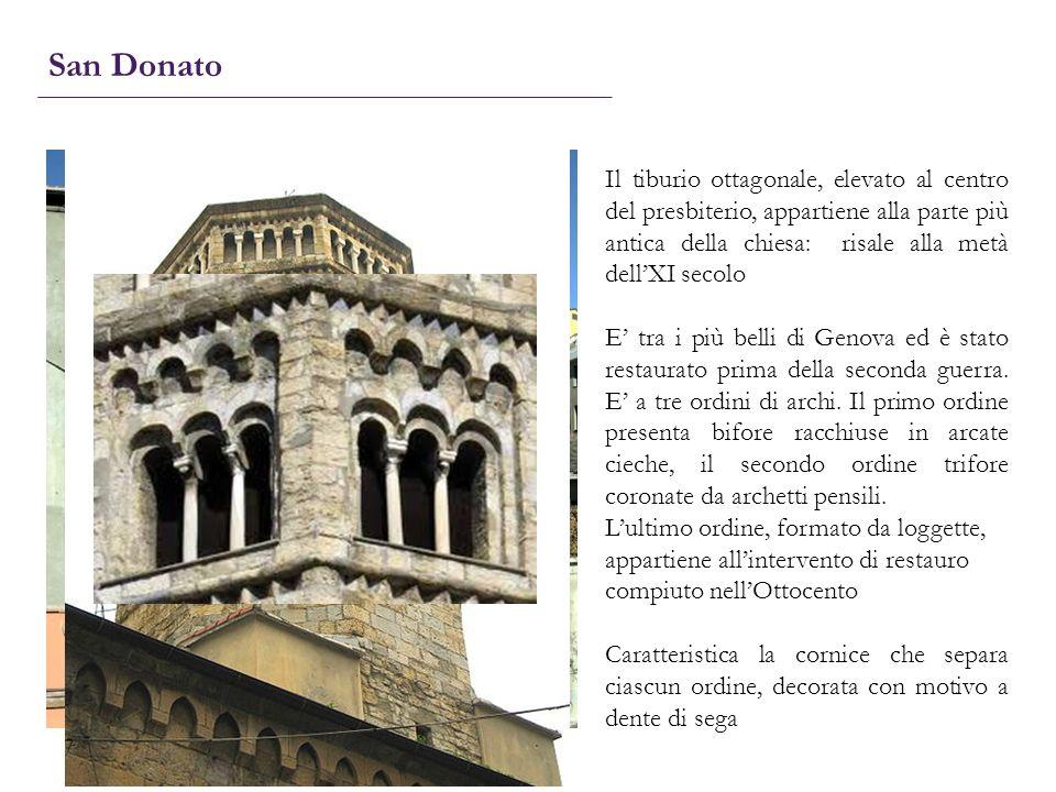 San Donato Il tiburio ottagonale, elevato al centro del presbiterio, appartiene alla parte più antica della chiesa: risale alla metà dellXI secolo E t