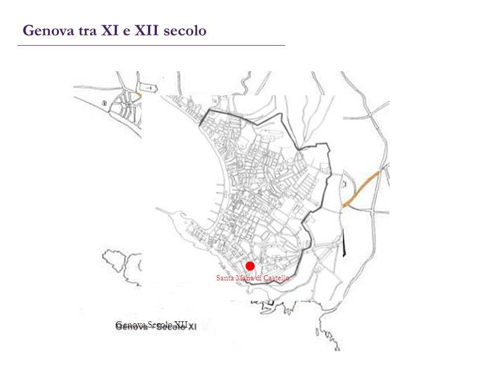 Genova tra XI e XII secolo Santa Maria di Castello Genova Secolo XII