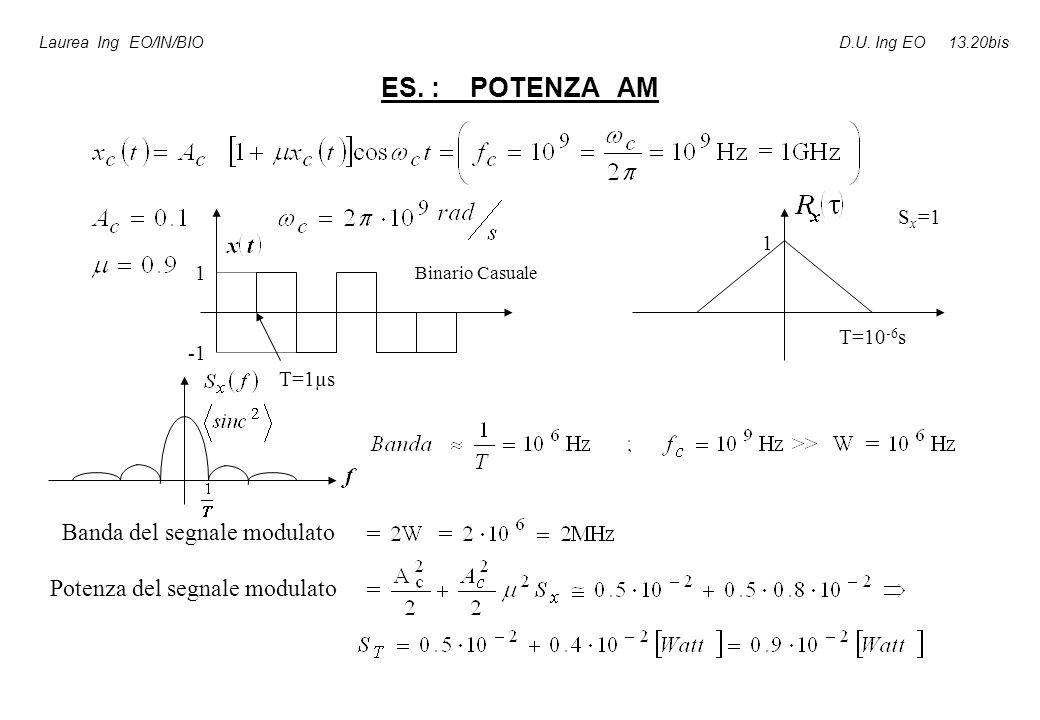 ES.: POTENZA AM Laurea Ing EO/IN/BIO D.U.