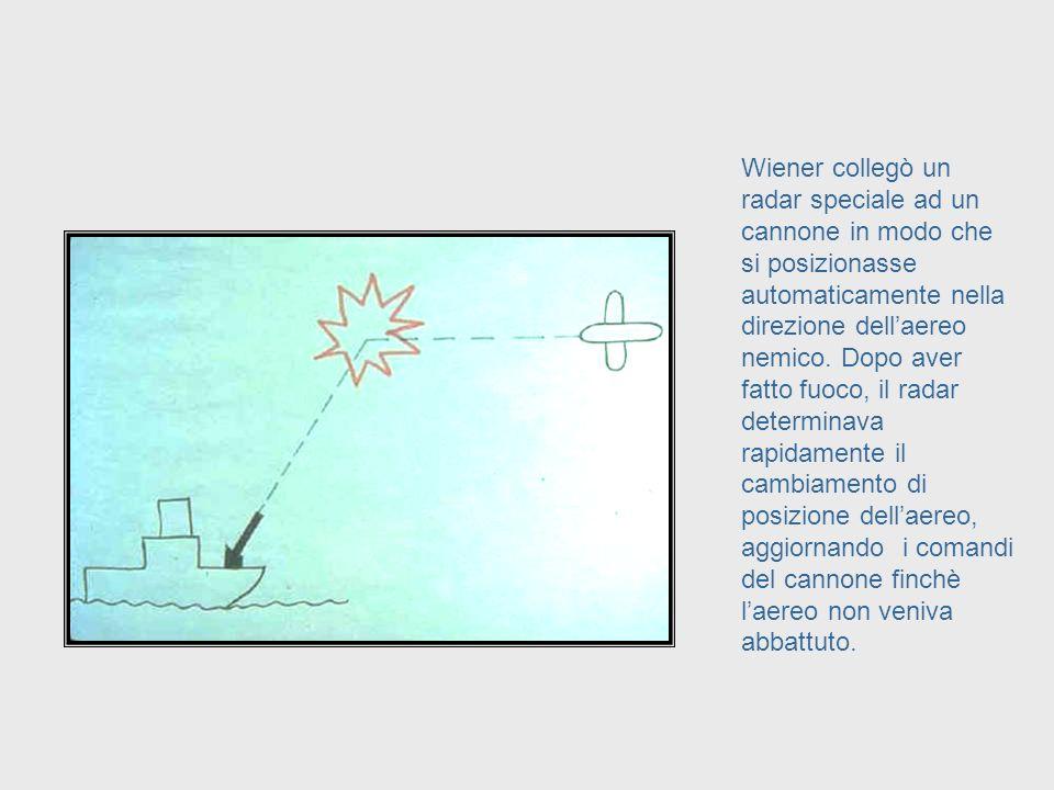 Wiener era un matematico, biologo, ed ingegnere elettrico che lavorò, durante la Seconda Guerra Mondiale, sulle batterie antiaeree guidate dai radar.