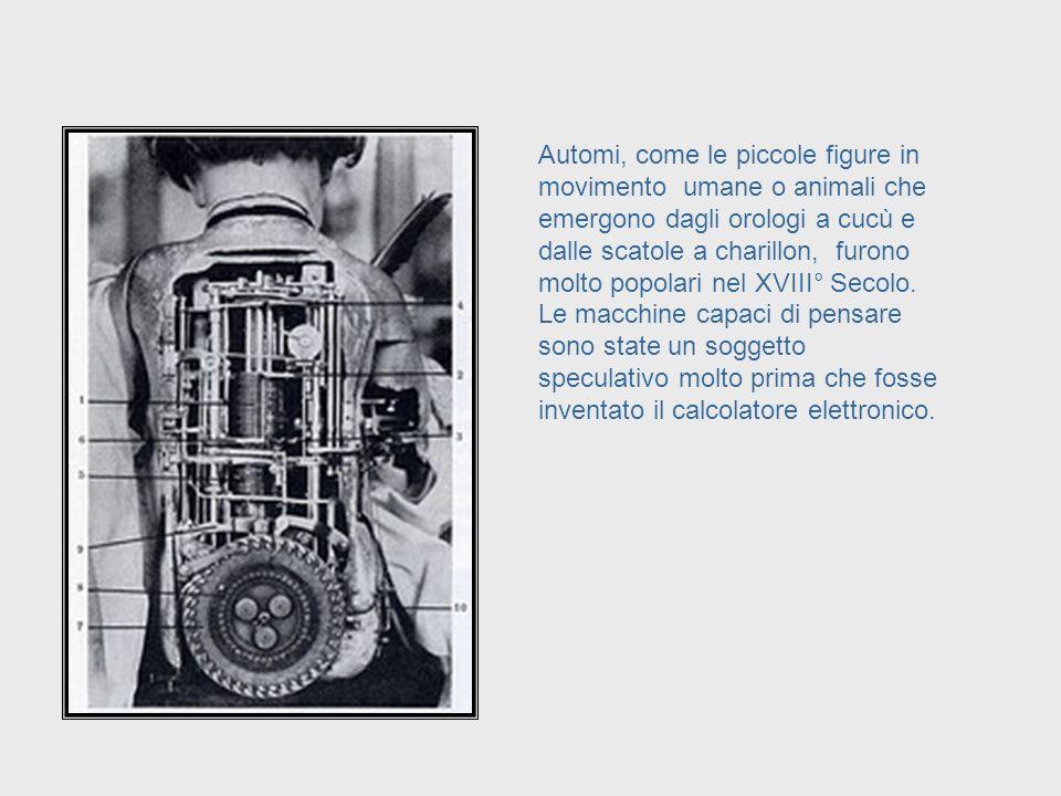 Per secoli si sono progettate macchine per eseguire compiti umani e non solamente per quelli che richiedono potenza muscolare. Designs to Help with Hu