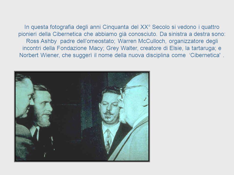 Questi incontri, insieme alla pubblicazione, nel 1948, del libro di Norbert Wiener dal titolo 'Cybernetics', servirono a costruire le fondamenta per l