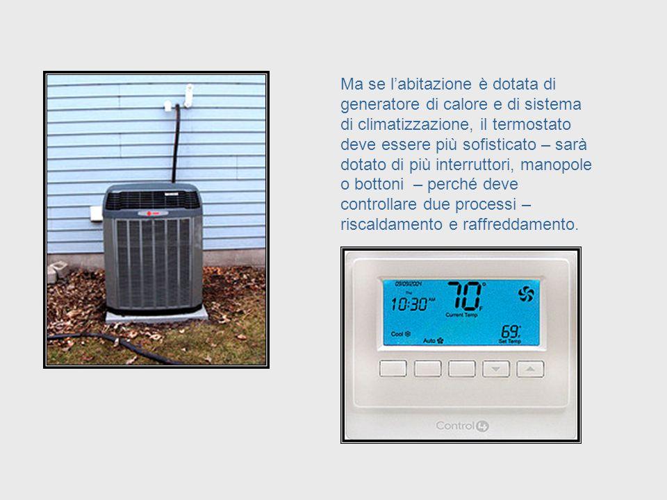 Se labitazione è provvista di un unico generatore di calore, il termostato può essere molto semplice – perché deve controllare soltanto un generatore.