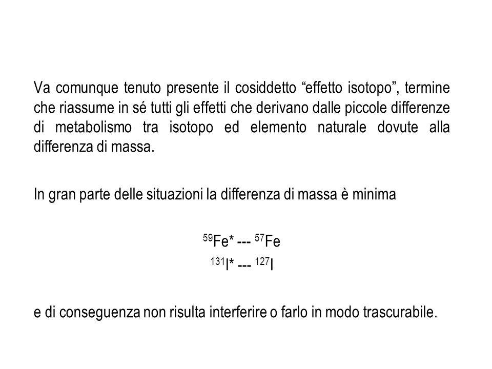 Il trasferimento del tracciante da un compartimento ad unaltro è caratterizzato da un valore detto costante di trasferimento (K).