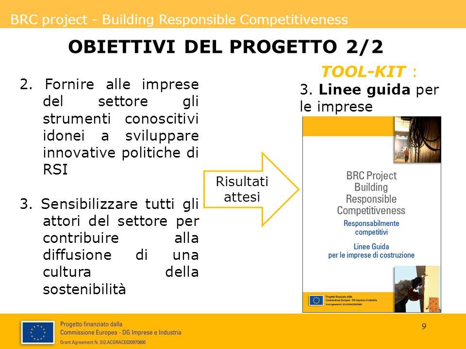 BRC project - Building Responsible Competitiveness OBIETTIVI DEL PROGETTO 2/2 2.