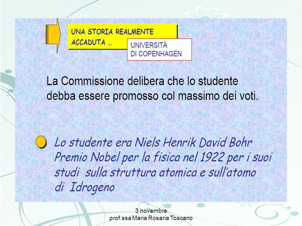 3 novembre prof.ssa Maria Rosaria Toscano QUALE IDEA DI INSEGNAMENTO.