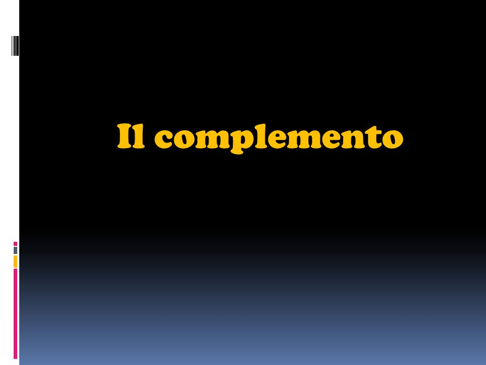 Il complemento