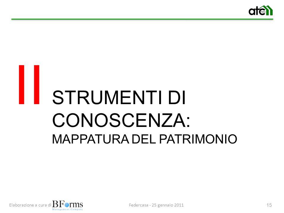 Federcasa - 25 gennaio 2011Elaborazione a cura di 15 STRUMENTI DI CONOSCENZA: MAPPATURA DEL PATRIMONIO II