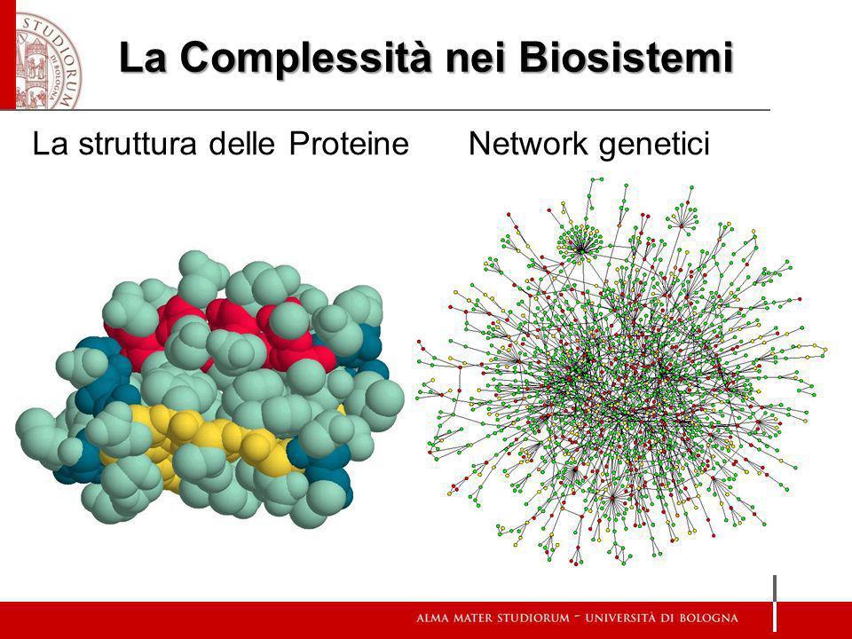 La Complessità nei Biosistemi La struttura delle ProteineNetwork genetici