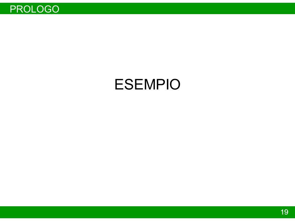 PROLOGO 19 ESEMPIO
