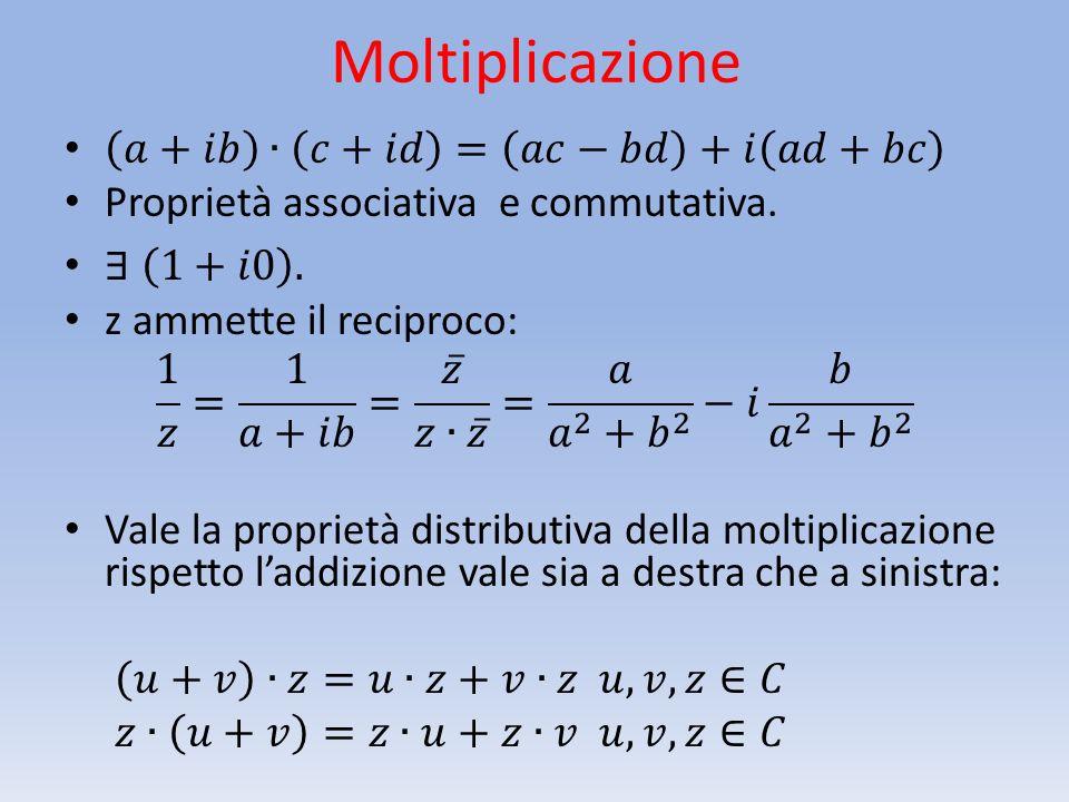 A volte la rappresentazione algebrica dei numeri complessi può rilevarsi scomoda per alcune operazioni.