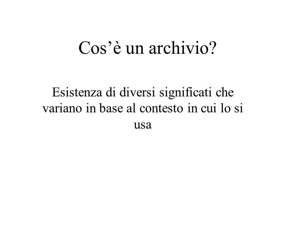 Cosè un archivio? Esistenza di diversi significati che variano in base al contesto in cui lo si usa