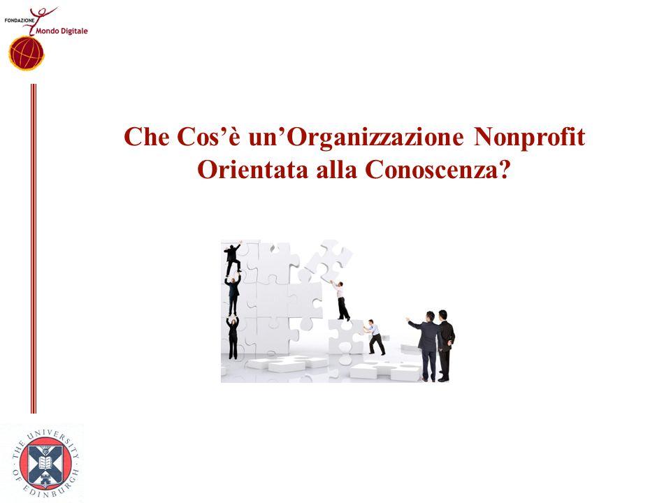 Che Cosè unOrganizzazione Nonprofit Orientata alla Conoscenza?