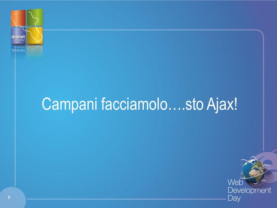 Fare clic per modificare lo stile del titolo Fare clic per modificare stili del testo dello schema – Secondo livello Terzo livello – Quarto livello » Quinto livello Campani facciamolo….sto Ajax.