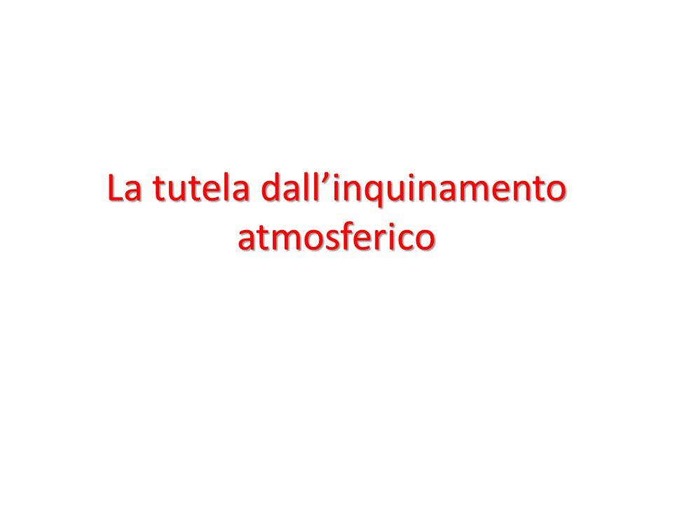 La tutela dallinquinamento atmosferico