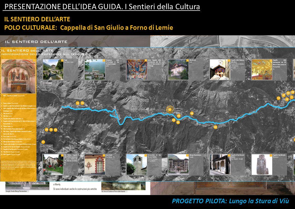 IL SENTIERO DELLARTE POLO CULTURALE: Cappella di San Giulio a Forno di Lemie PRESENTAZIONE DELLIDEA GUIDA. I Sentieri della Cultura
