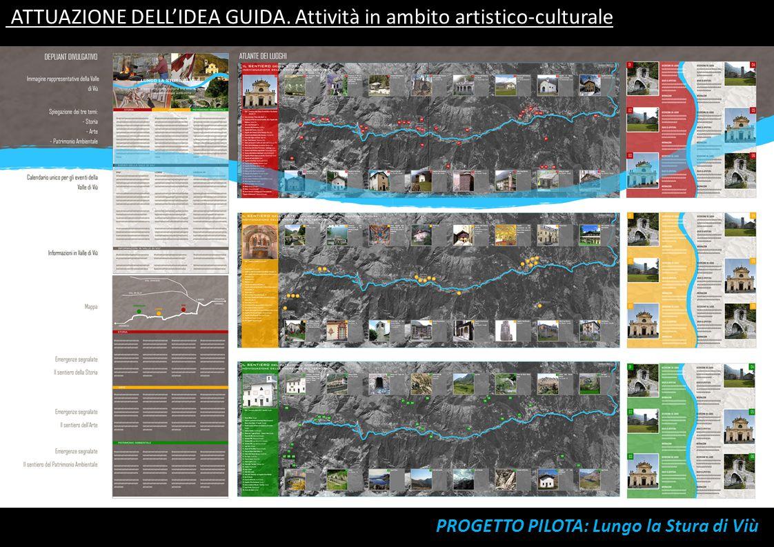 ATTUAZIONE DELLIDEA GUIDA. Attività in ambito artistico-culturale ELABORAZIONE DELLA GRAFICA IDENTIFICATIVA DEL SISTEMA CULTURALE Iniziativa prioritar