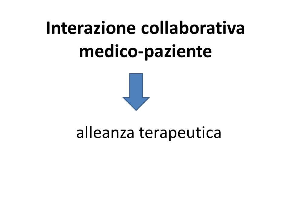 Interazione collaborativa medico-paziente alleanza terapeutica