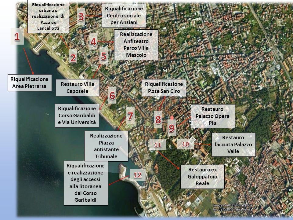 Riqualificazione Area Pietrarsa Riqualificazione urbana e realizzazione di P.zza ex Lancellotti Riqualificazione Centro sociale per Anziani Realizzazi