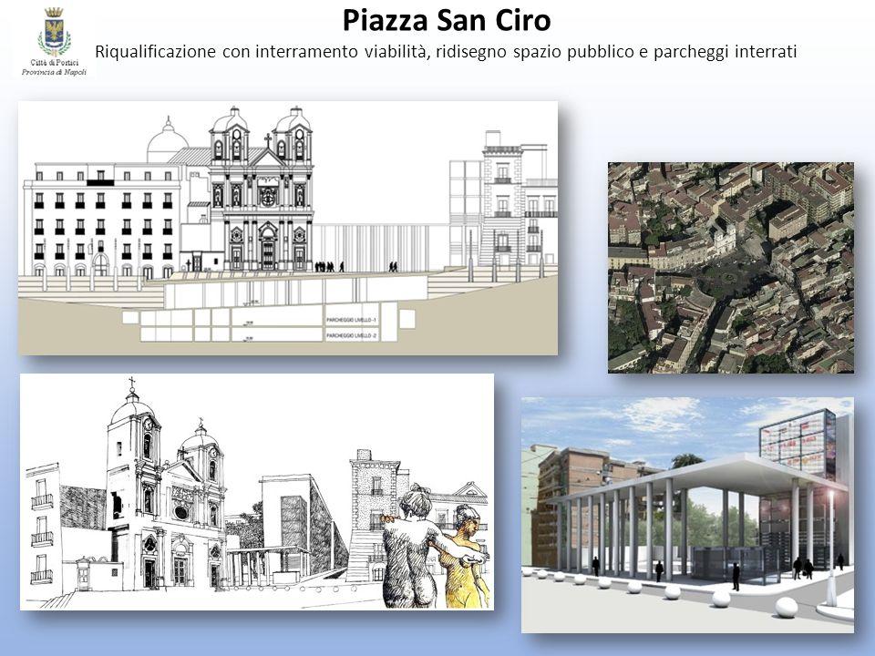 Piazza San Ciro Riqualificazione con interramento viabilità, ridisegno spazio pubblico e parcheggi interrati