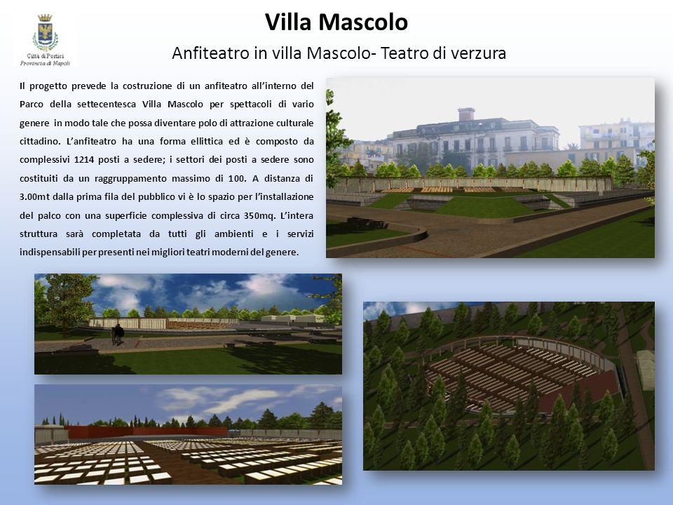 Villa Mascolo Anfiteatro in villa Mascolo- Teatro di verzura Il progetto prevede la costruzione di un anfiteatro allinterno del Parco della settecente