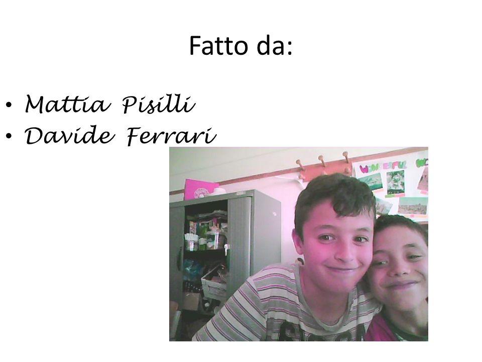 Fatto da: Mattia Pisilli Davide Ferrari