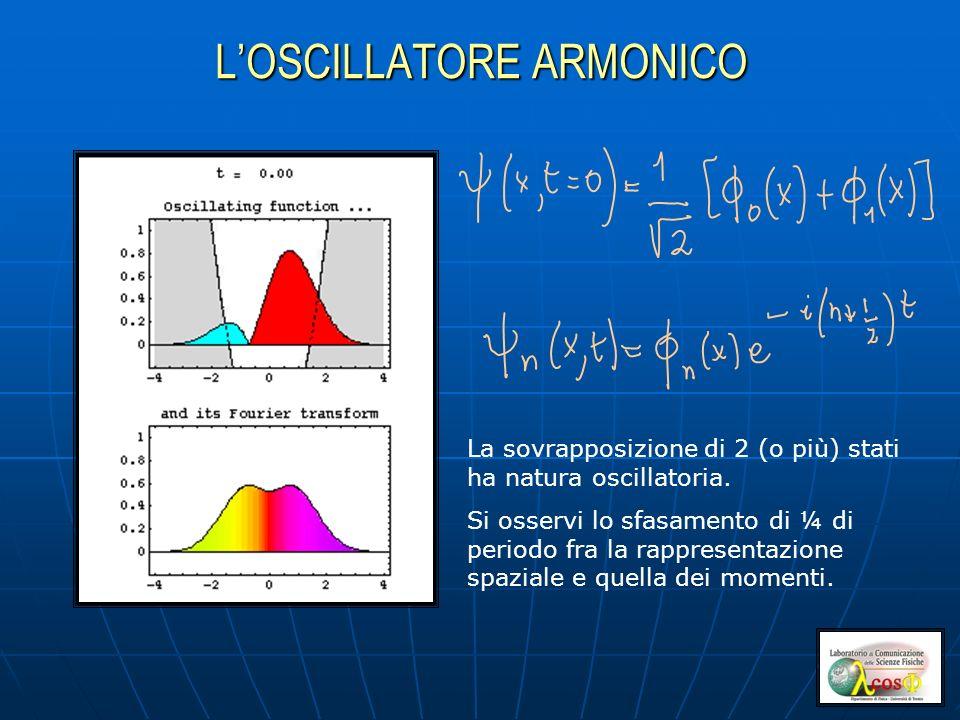 La sovrapposizione di 2 (o più) stati ha natura oscillatoria.