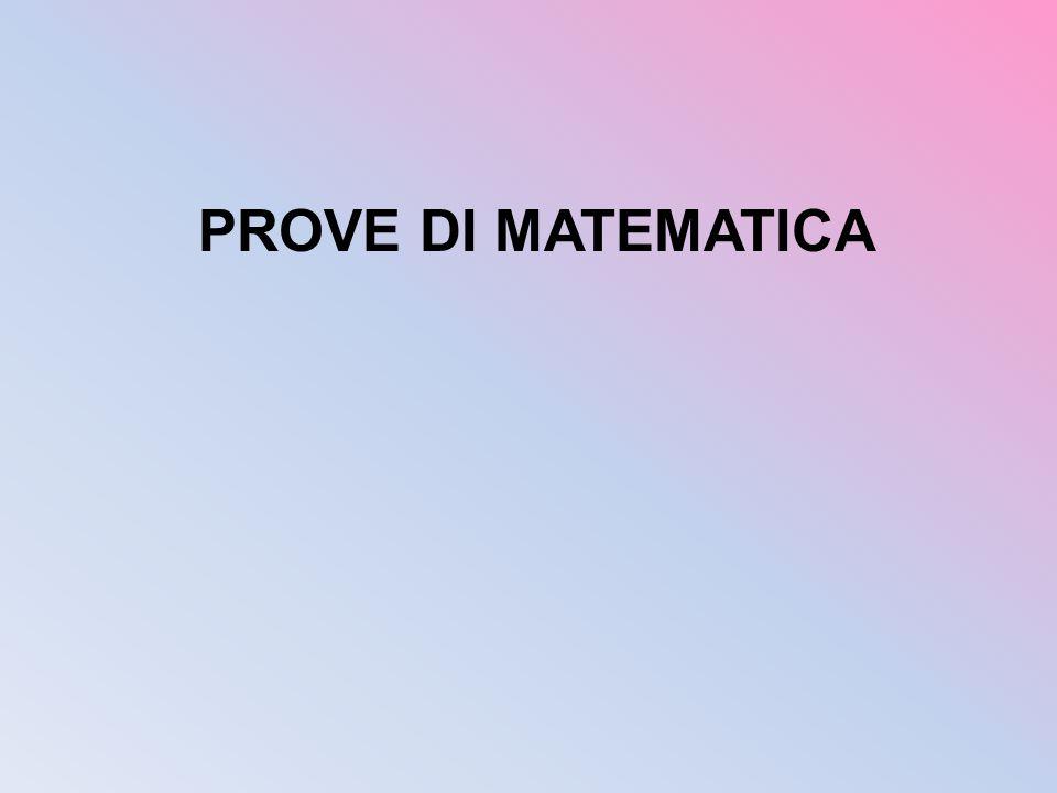PROVE DI MATEMATICA