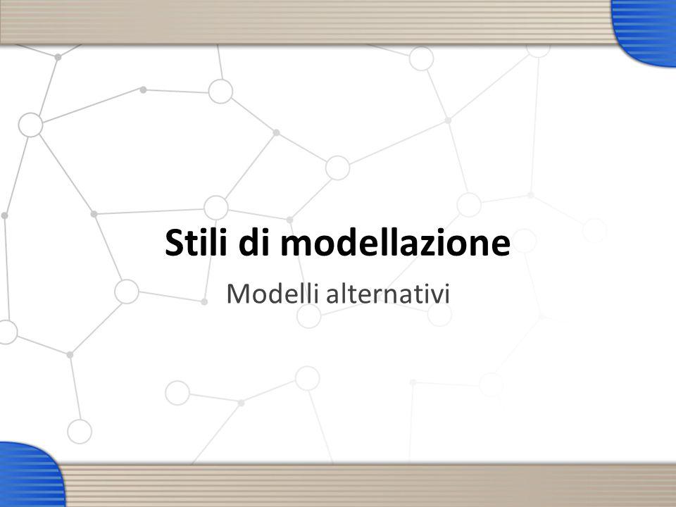 Stili di modellazione Modelli alternativi