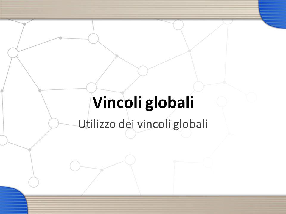 Vincoli globali Utilizzo dei vincoli globali