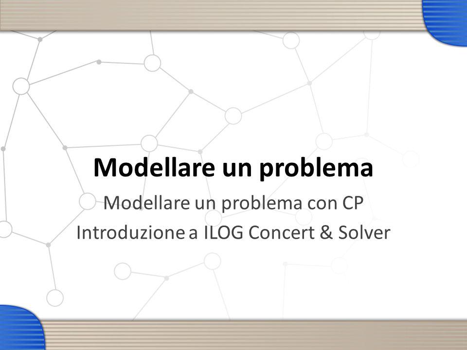 Modellare un problema Modellare un problema con CP Introduzione a ILOG Concert & Solver